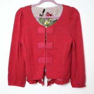 Leifsdottir | Anthro Embroidered Sweater Jacket
